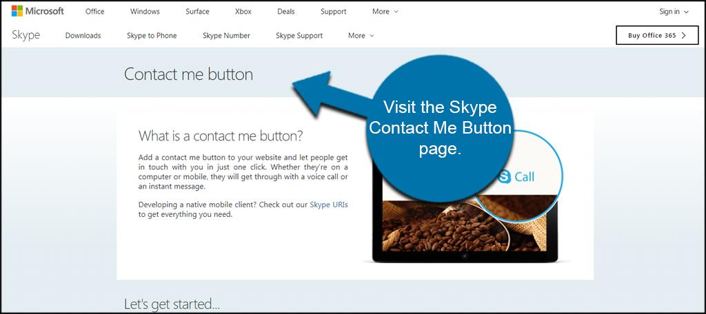 Skype Contact Me