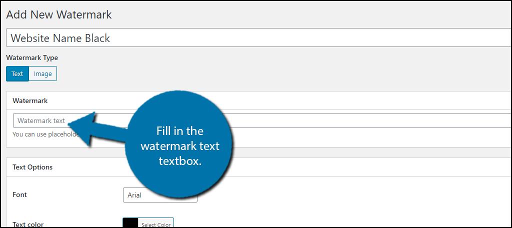 Watermark Text