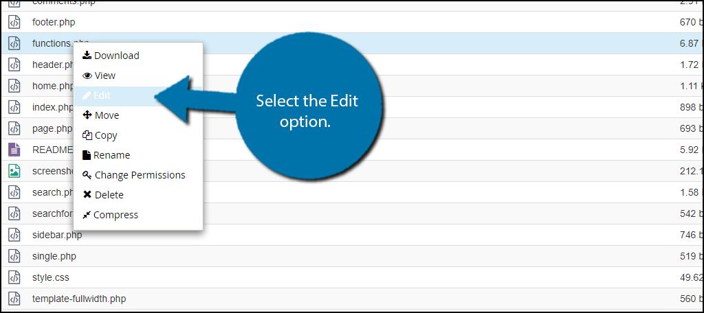 "select the ""Edit"" option."