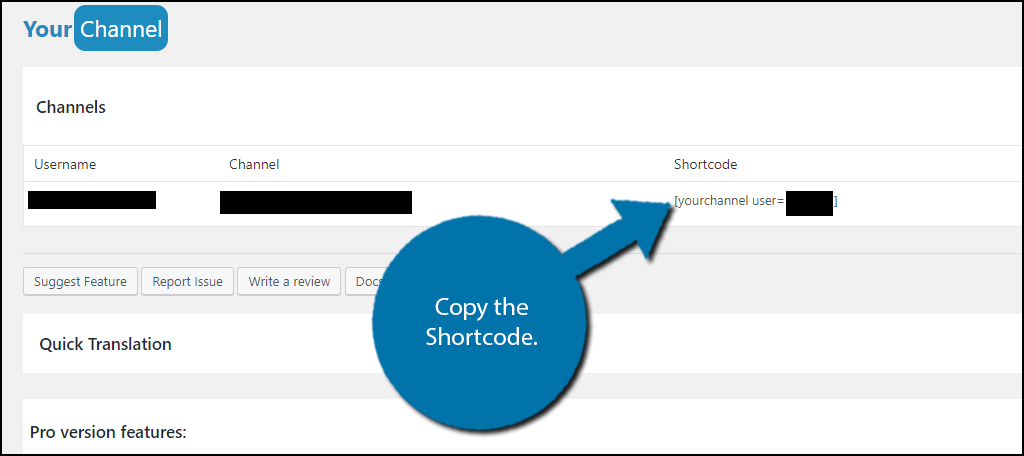 Copy the Shortcode.