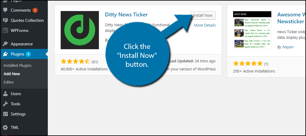 How to Create a News Ticker in WordPress - GreenGeeks