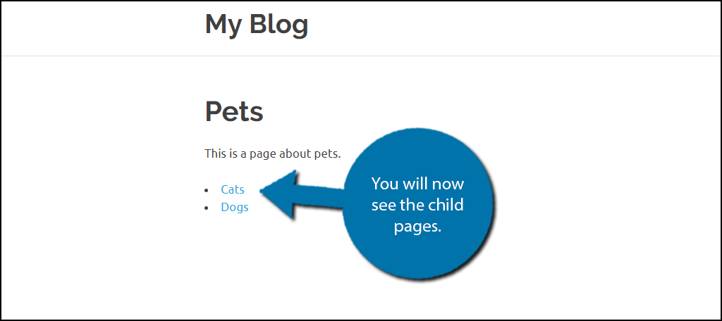 You can now view an index of all of your child pages for a parent page.