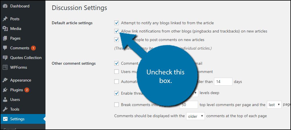 Uncheck this box.