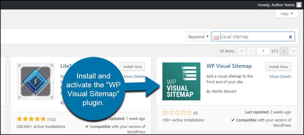 Install Visual Sitemap