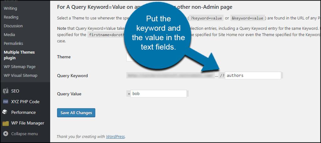 Keyword Value Theme