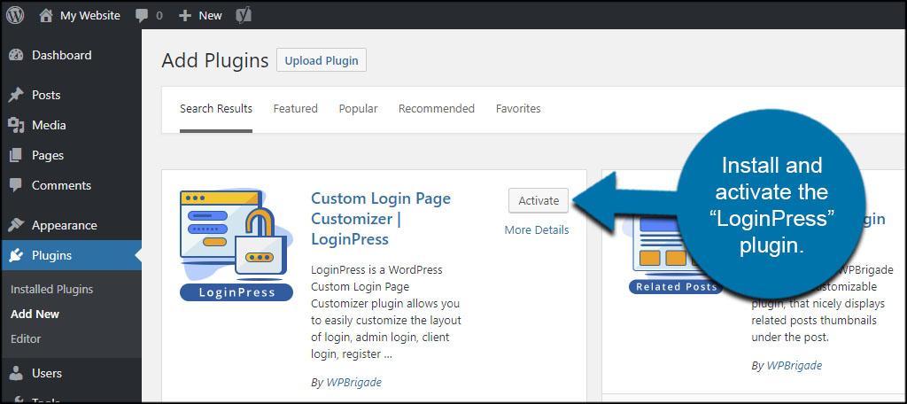 LoginPress Install
