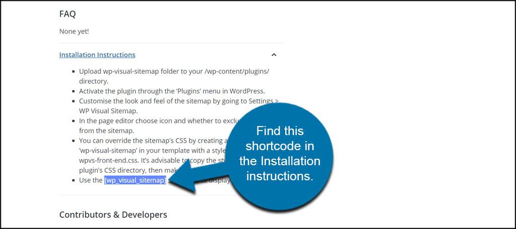Visual Sitemap Shortcode