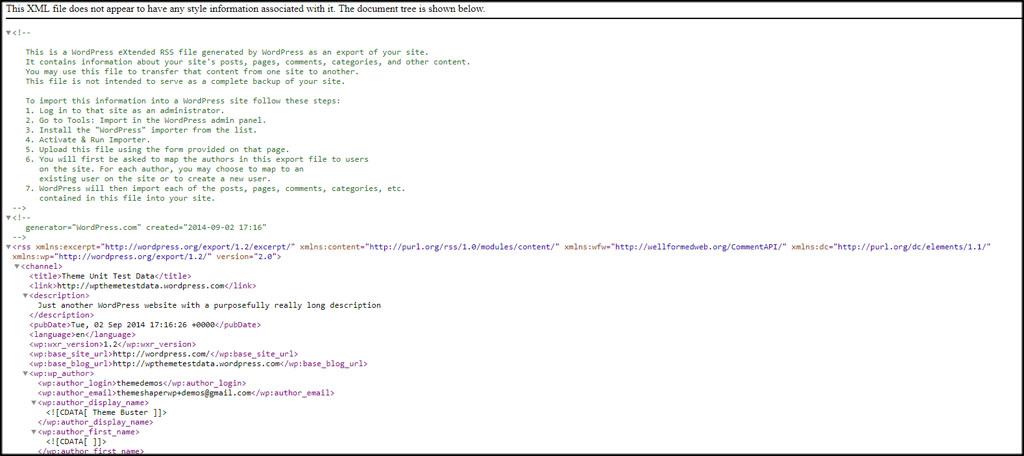 XML File Data