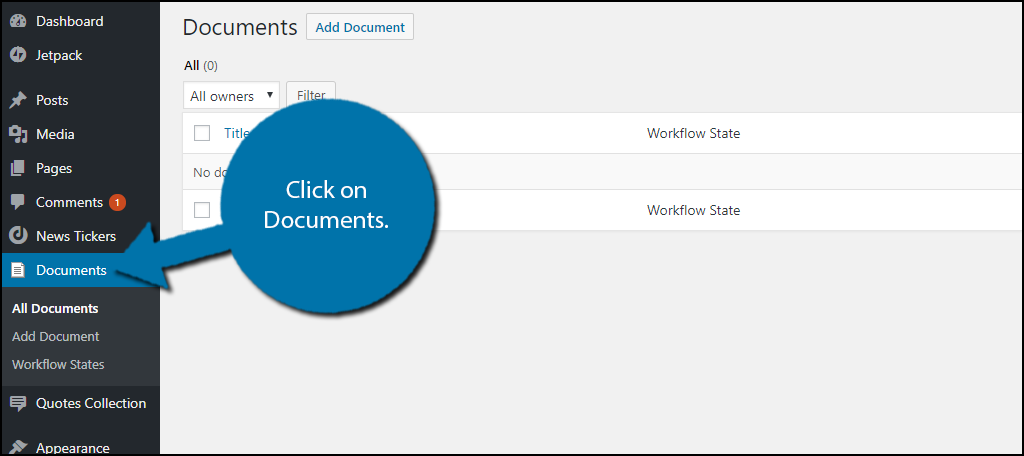 click on Documents.