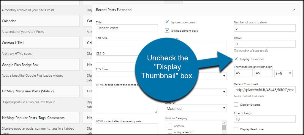 Display Thumbnail