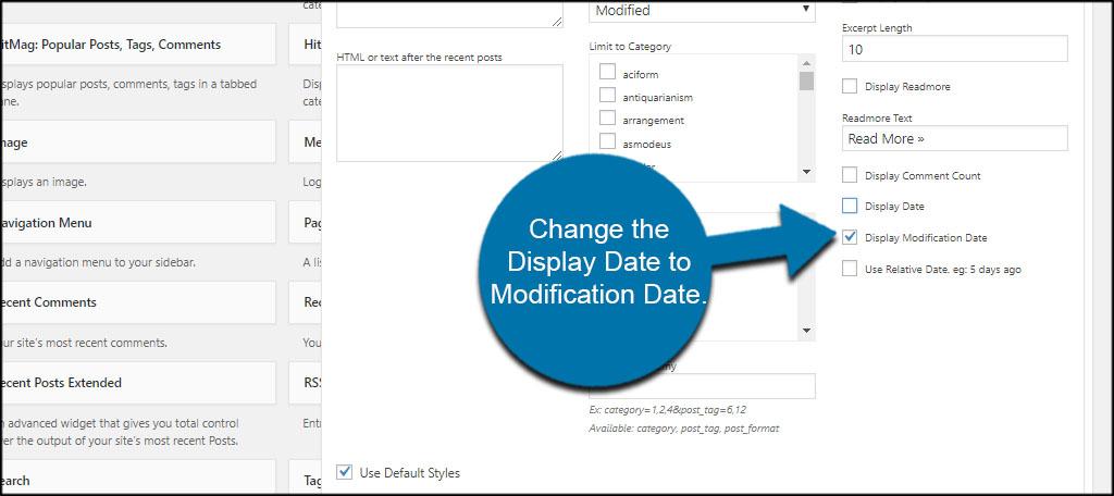 Modification Date