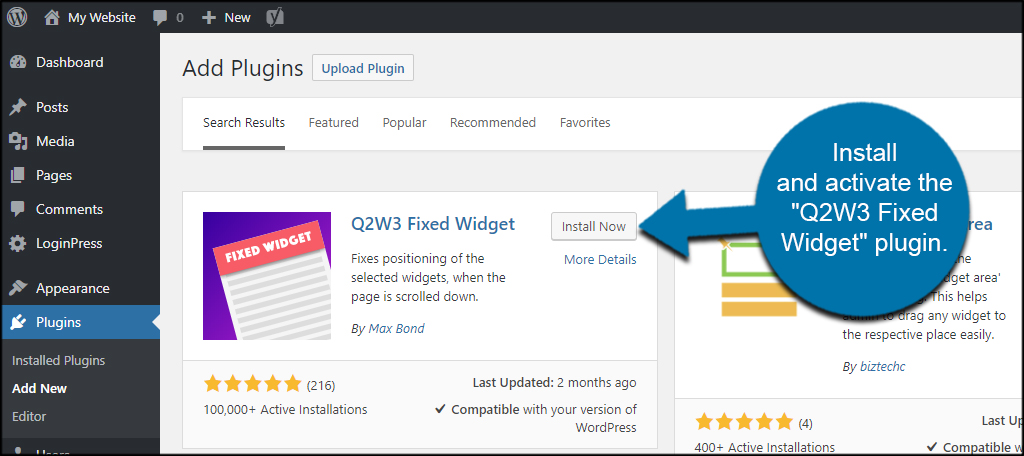 How to Add a Sticky Sidebar Floating Widget in WordPress