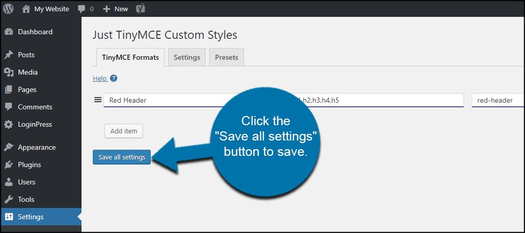Save CSS