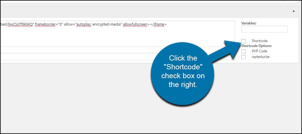 Shortcode Box
