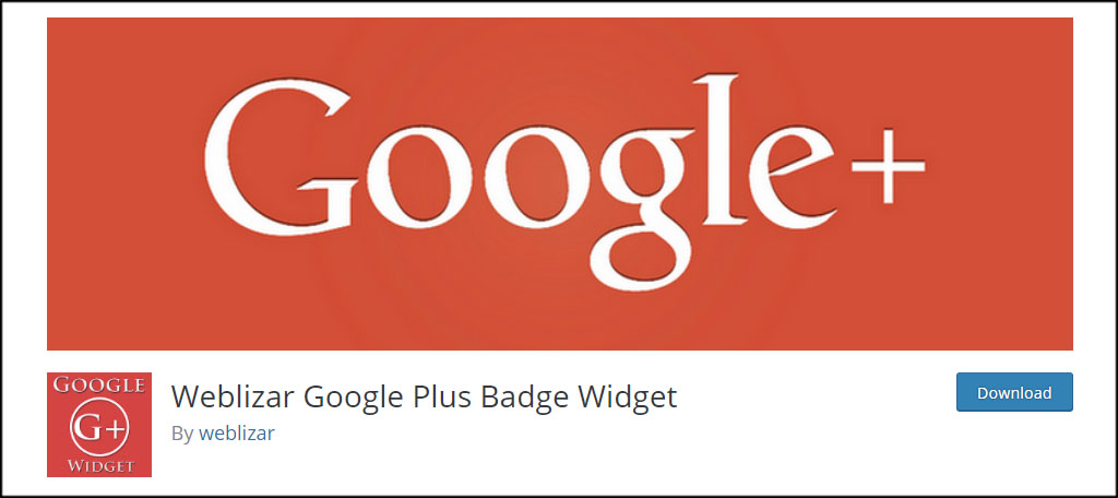 Weblizar Google Badge