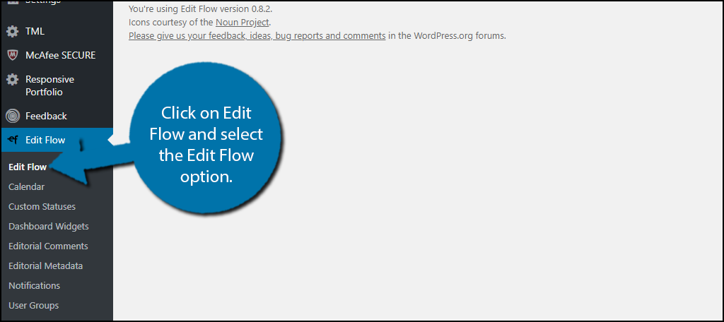 Click on Edit Flow and select the Edit Flow option.