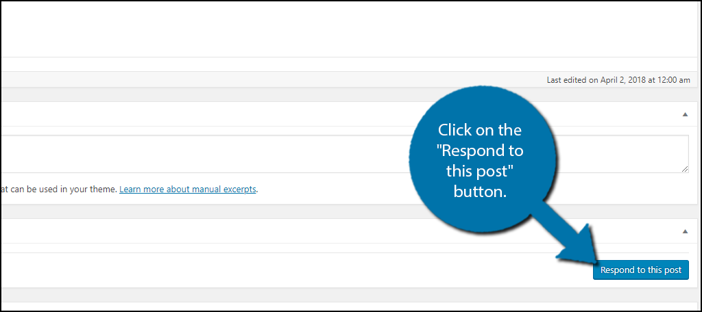 """Click on the """"Respond to this post"""" button."""