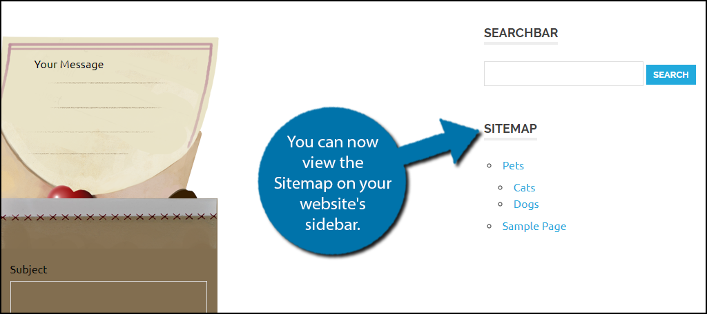 You can now view the Sitemap on your website's sidebar.