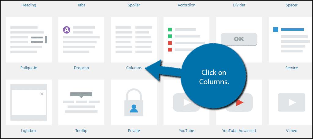 WordPress Columns