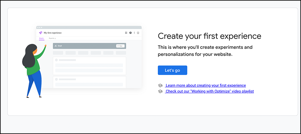 Create and A/B testing experience