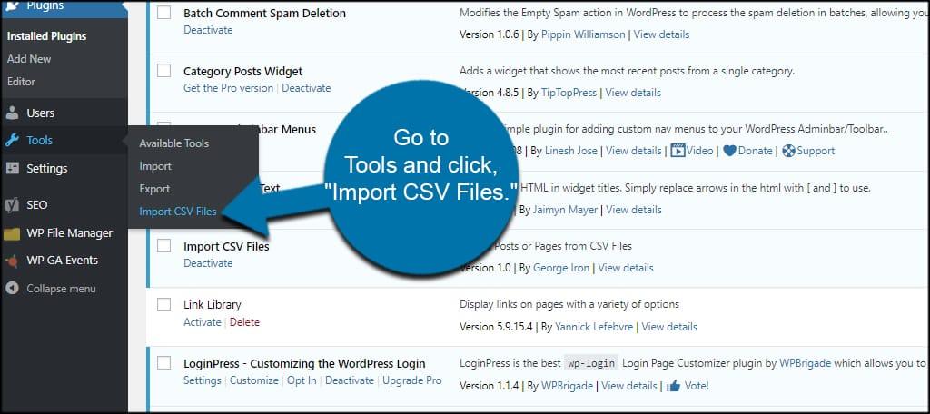 Import CSV Tool