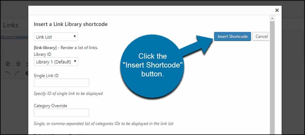 Insert Shortcode