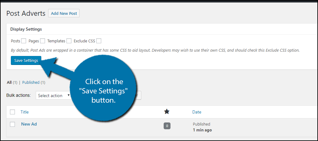 """Click on the """"Save Settings"""" button."""