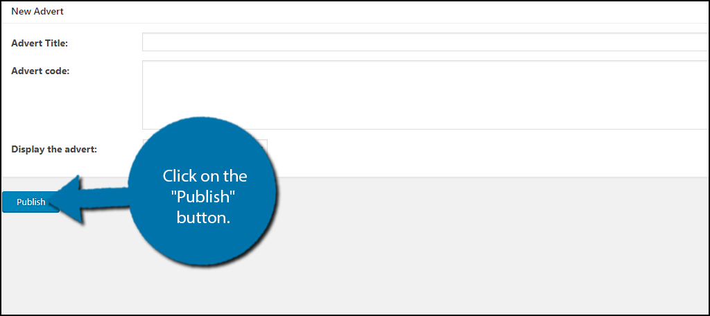 """Click on the """"Publish"""" button."""