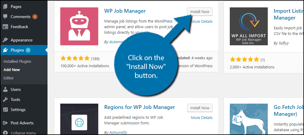 "Click on the ""Install Now"" button."