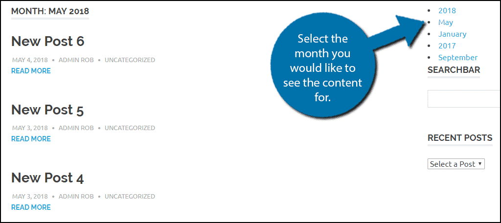Select the month you would like to see the content for.
