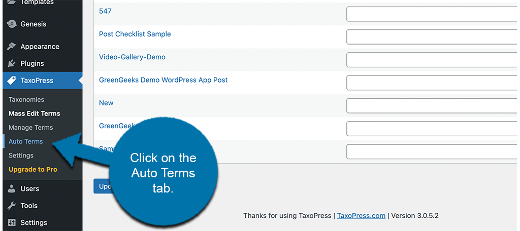 Click auto terms