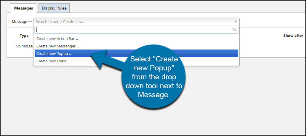 Create New Popup
