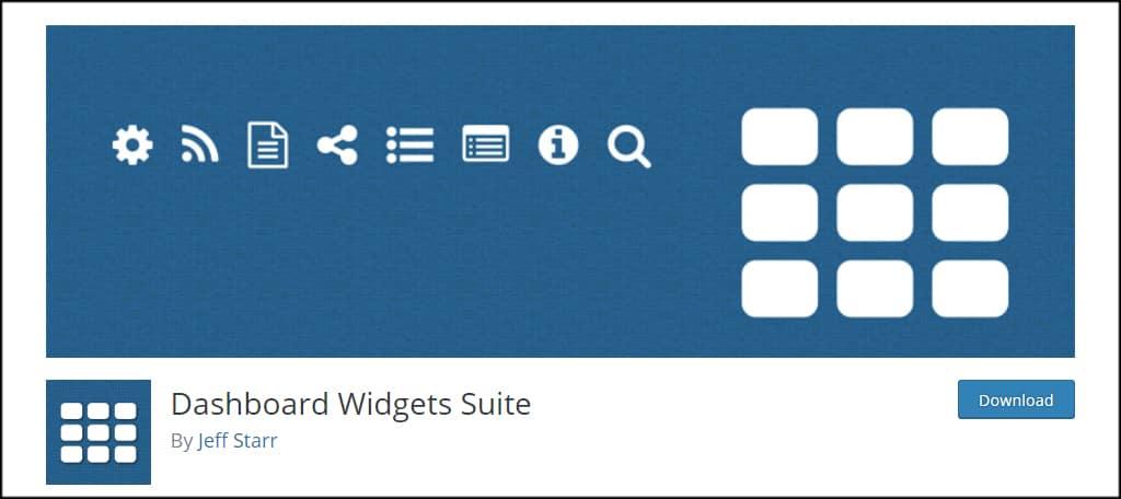 Dashboard Widgets Suite