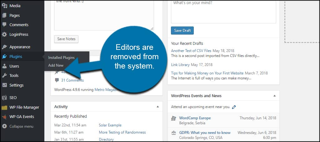 Editors Removed