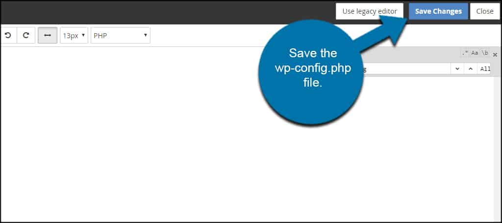 Save WPConfig