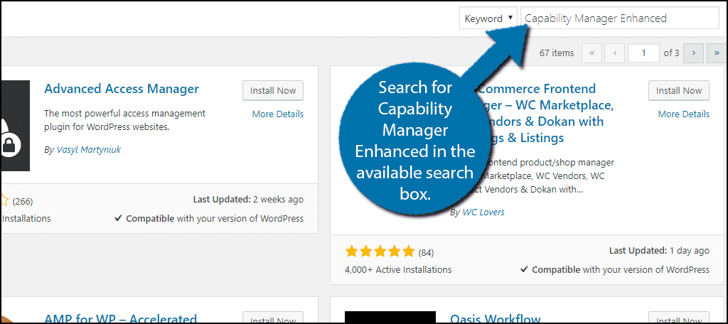Search forCapability Manager Enhanced in the available search box.
