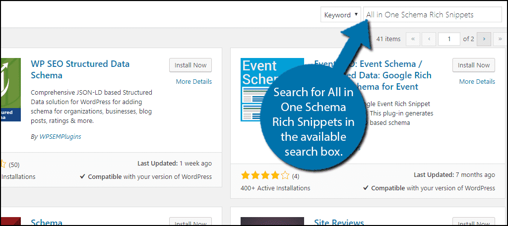 Search for All in One Schema Rich Snippets in the available search box.