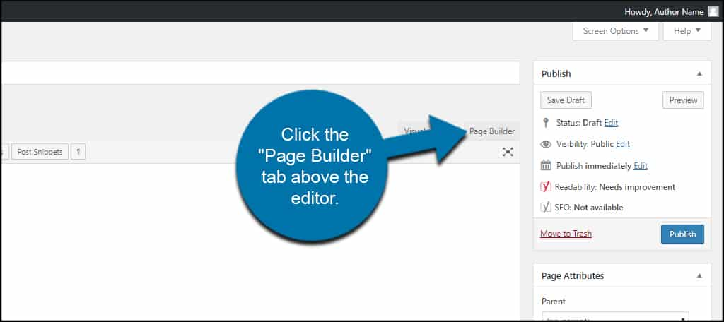 Page Builder Tab