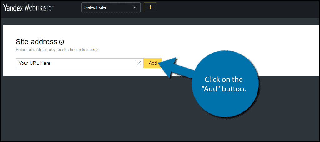 "Click on the ""Add"" button."