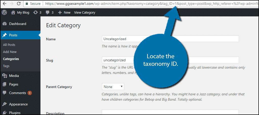 Locate the taxonomy ID.