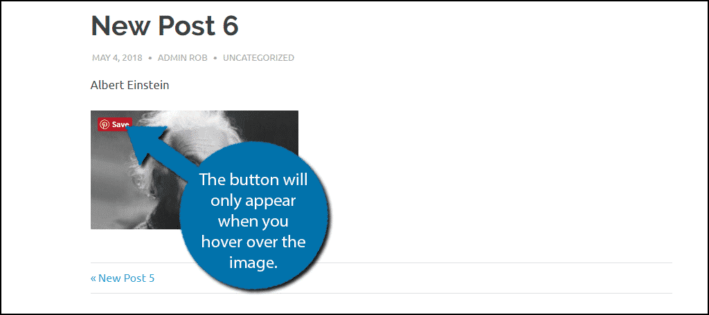 The button is activated by a mouse hovering over it.