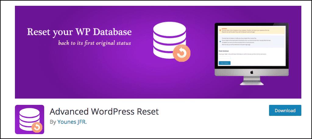 Advanced WordPress reset button