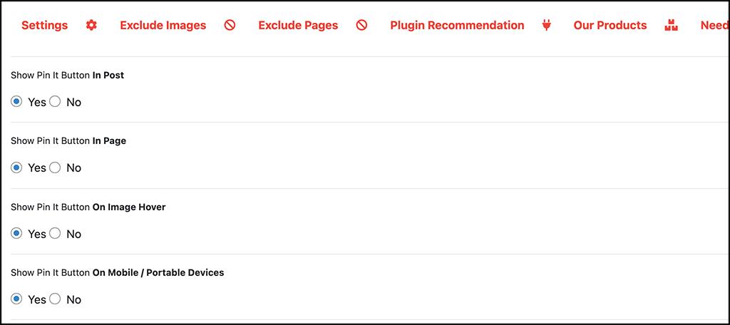 COnfigure the plugin settings
