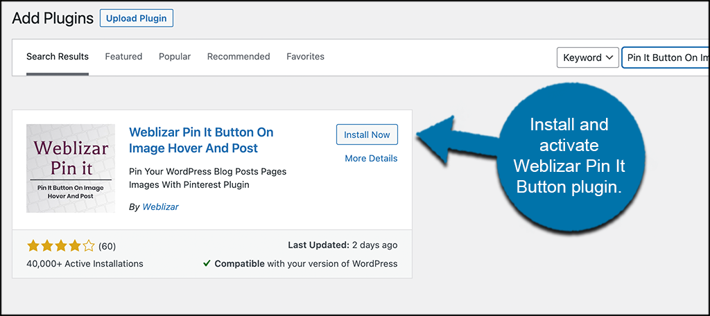 Install and activate plugin