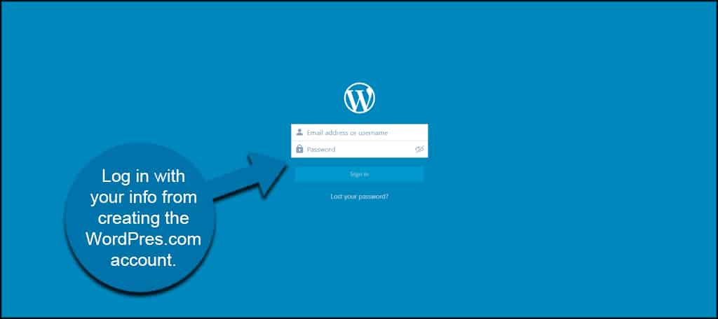 Log Into WordPress