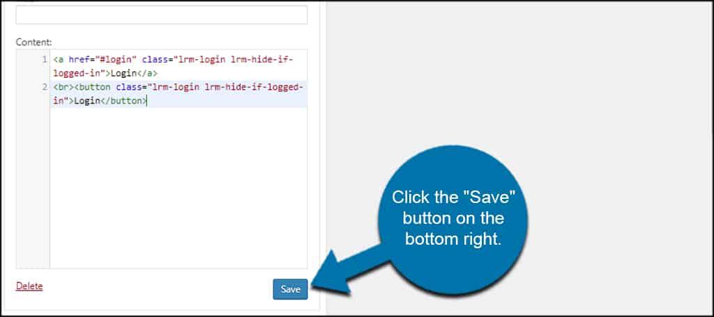 Save Widget