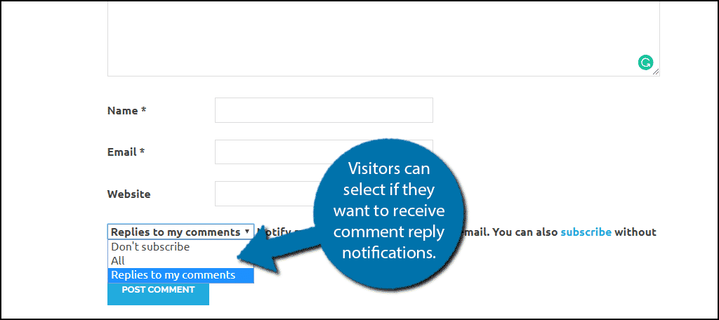 Visitors can now select if they want to subscribe for notifications.