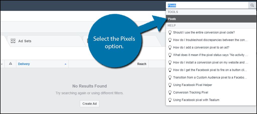 Select the Pixels option.