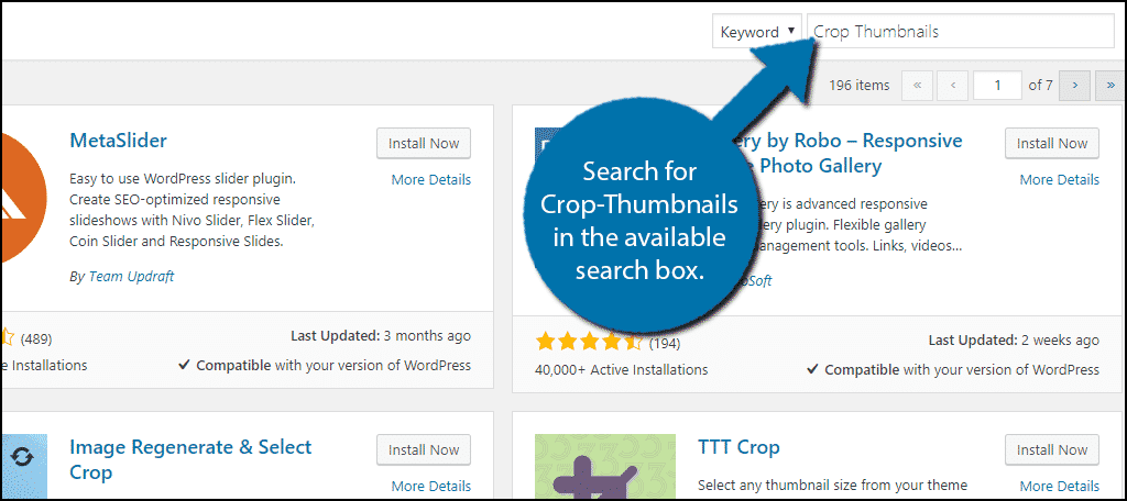 Search for Crop-Thumbnails in the available search box.