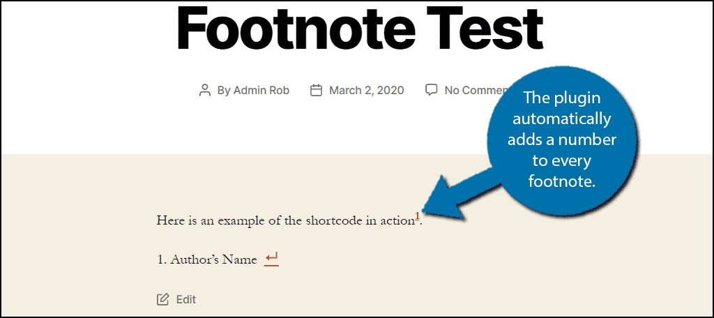 Numbers as Footnotes